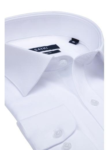 Hatemoğlu Armürlü Klasik Gömlek Beyaz
